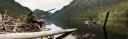 Megin Lake Log Pano